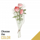 Send 3-roses-short-stemmed to Lebanon